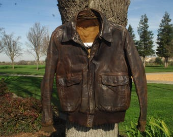 1940s leather a2 style jacket