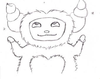 The Yeti Coloring Page