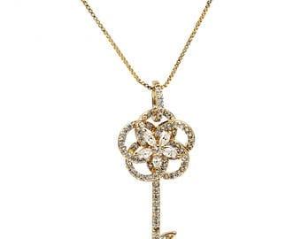 Fashion wild key pendant necklace