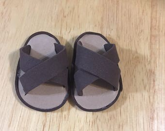 Boy doll sandals 18 inch doll sandals camo sandals faux leather sandals
