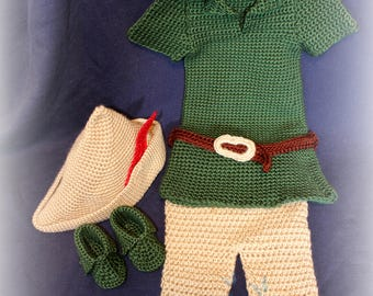 Robin Hood or Peter Pan Infant Halloween Costume Handcrafted Trick or Treat