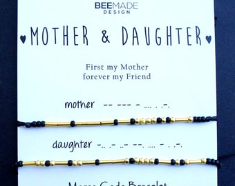 Mother and Daughter Morse Code Bracelets for 2 Gift Mom Gift for Mom from Daughter Gift Idea Mother Daughter Gifts mother christmas stuffers
