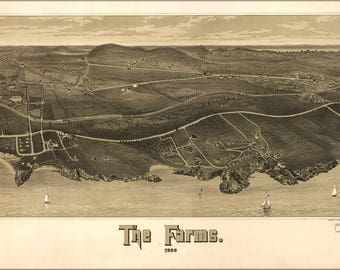 Poster, Many Sizes Available; Map Of Beverly Farms Massachusetts 1886