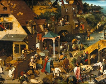 Poster, Many Sizes Available; Dutch Proverbs, By Pieter Bruegel The Elder