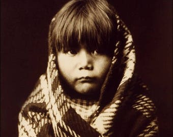20% Off Sale - Poster, Many Sizes Available; Navajo Child Native American Indian By Edward S. Curtis 1904
