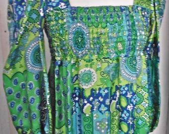 1970s genuine maxi psychedellic dress, 12