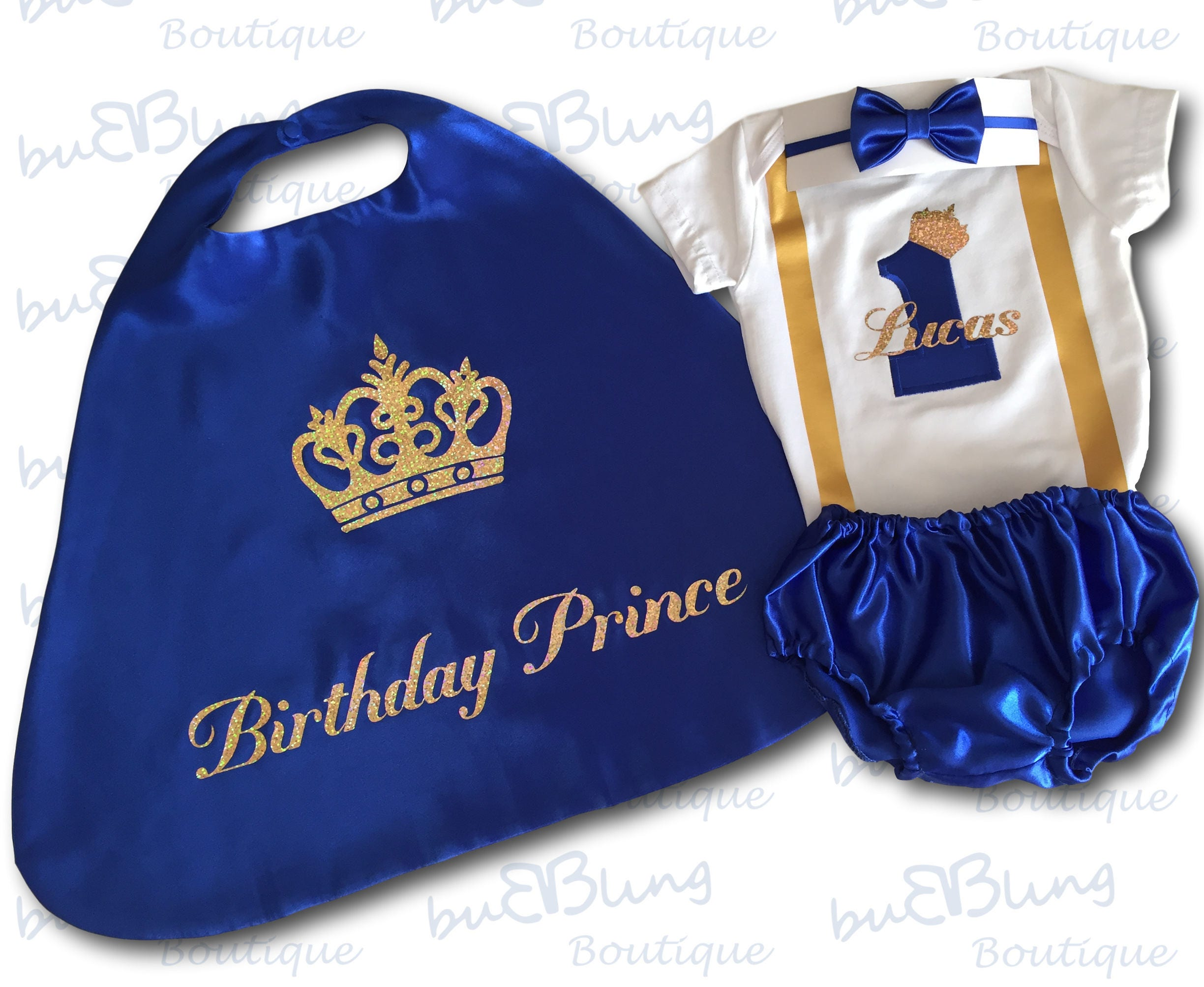 First Birthday Outfit Boy Blue 1st Birthday Outfit Blue Cake Smash