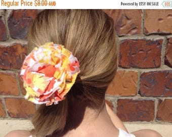 EOFY Sale Rag Rose Fabric Rosette Hair Elastic