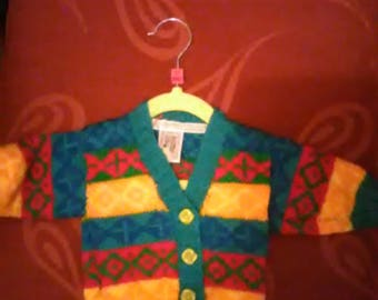 Hand knitted cardigan aged 0-3 months
