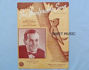 Sheet Music 'The Woodpecker Song', Novelty Song, Bandleader Glenn Miller, 1940