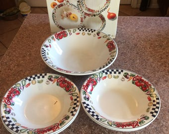 Vintage Campbell's Bowl Set 5 Piece