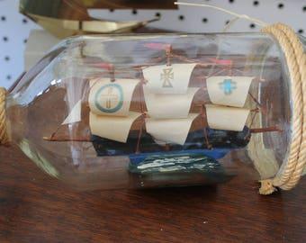 Crusader Ship British Inside a Bottle