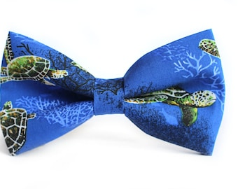 Turtles Bow Tie | Bow Tie for Men | For Him | Bowtie | Self Tie | Dog Bow Tie | Mens Bow Tie | Boys Bow Tie | Wedding Bow Men | Groomsmen