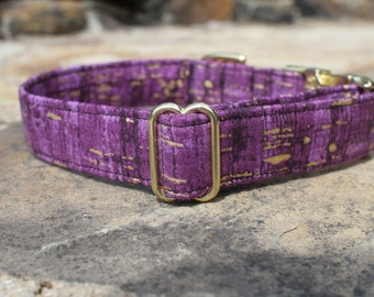 Purple Dog Collar, Female Dog Collar, Large Dog Collar, Small Dog Collar, Fabric Dog Collar, Metal Buckle, Gift for Dog Lovers, Pet Collar