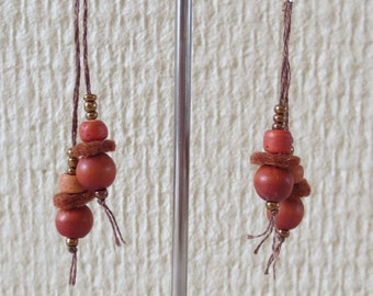 "Earrings ""Natur"" they ""light brown, gift for her"