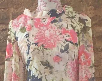 Vintage floral daytime dress UK 10