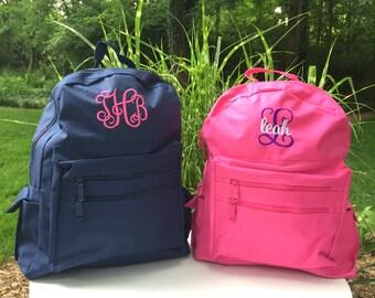 Monogrammed Backpack - Personalized School Girls Back Pack -  Book Bag - Kids Children - Kid Back Pack - Child Bag