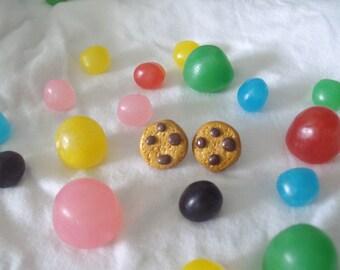 Fancy chip cookies earrings