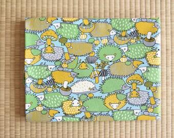 cotton hedgehog fabric 1/2 yard