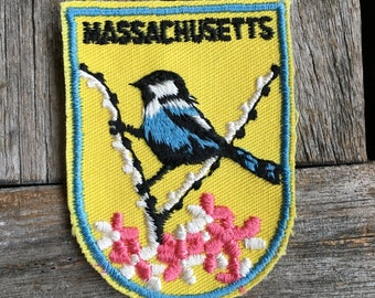 Massachusetts Vintage Souvenir Travel Patch from Voyager