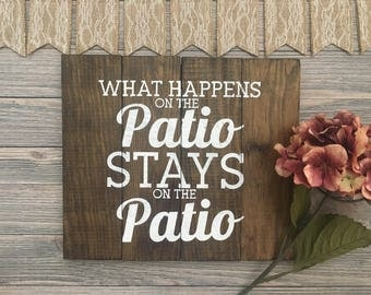 String Art   Customizable Wall Art   What Happens On The Patio Stays On The  Patio