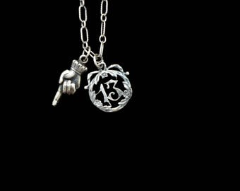 Number 13 Fairy Tail Charm Necklace
