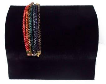 Bold Dark! Single-Knot Friendship Wire Bracelet