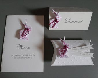 Liberty origami rabbit folded menu