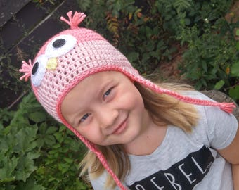 Owl Hat - Pick your colours - Custom Owl Hat - Boy or Girl Hat - All sizes available! - Match your Kids Snowsuit