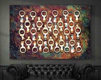 Soda Can Art - Pop Art - Large Wall Art - Printable Art - Vintage Soda Cans - Pop Tabs - Instant Download - Digital Download - Digital Print