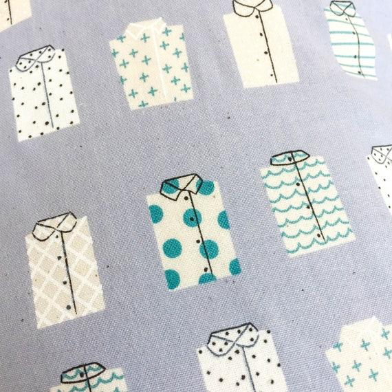 Crib Sheet - KUJIRA Shirts in Fog - MADE-to-ORDER - haberdashery mini crib, chambray blue crib sheet, teal baby bedding, travel bassinet