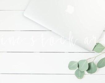 Laptop & Greenery Stock Photo | Instant Download | Styled Desktop