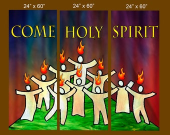 Come Holy Spirit  / Set of 3 Banners (G1618)