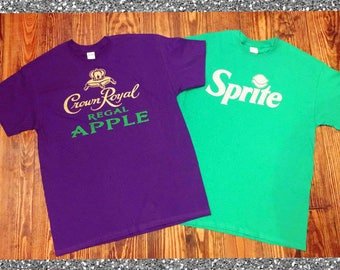 Crown Royal Apple & Sprite Halloween Couple T-shirts!