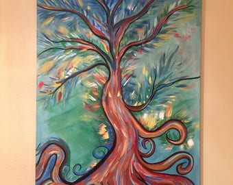 Twisted Vines- Abstract Tree- Original Painting