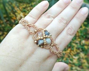 Agate Beaded bracelet, macrium bracelet, Botswana agate Jewelry, Gemstone Jewelry