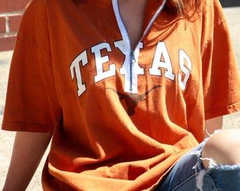University of Texas Zip Up Tee