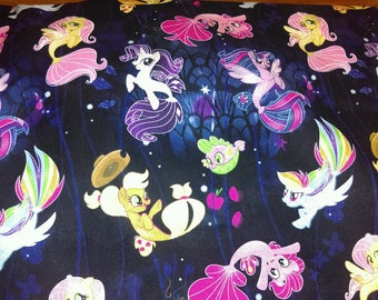 Fast Shipping My little Pony scrub top made to order xs to xl  4 different neck design 100% Cotton great quality brand new