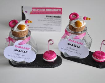 name 2 in 1 and a candy container or candy on Slate, pink and white