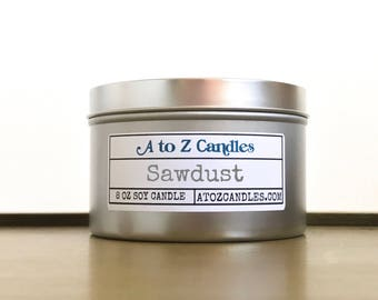 Gift for Him, Man Candle, Candles for Men, Sawdust Scented Candle, Sawdust Candle, Soy Candle, Scented Candles, Sawdust, Tin Candles