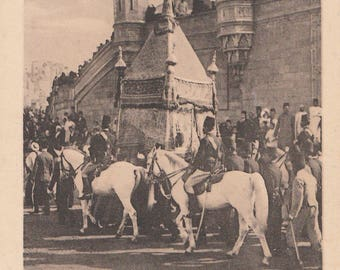FREE POST - Old Postcard - RARE Egypt Procession of the Holy Carpet - Vintage Postcard - Unused