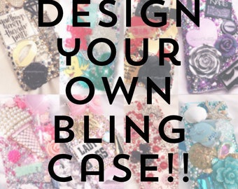 Bling Case Custom Made | Samsung Galaxy S4 S5 S6 S6 S7 S8 Edge S6 Edge+ Note 4 Note 5 | Makeup Glam Fashion Sports Princess