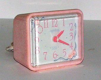 Pink Alarm Clock Vintage Ingraham Electric Shabby Chic Pink Alarm Clock Does It Get Any Better