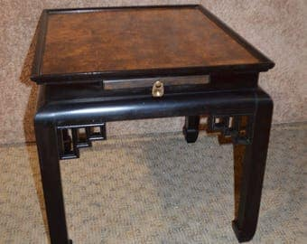 Vintage Ethan Allen Asian Style End Table