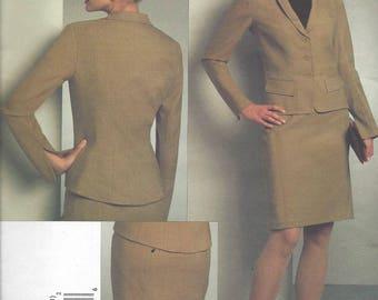 Vogue Badgley Mischka Jacket and Skirt pattern size 14, 16, 18,20  OOP