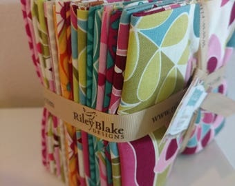 Riley Blake Fat Quarter Bundle/18 Fat Quarters/Botanique
