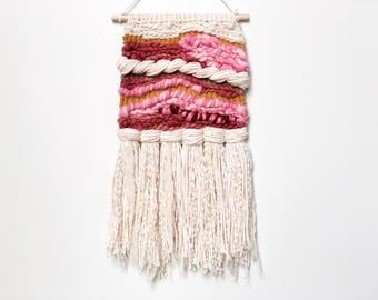 Small Wall Hanging | Weaving | Tapestry | Weave | Wildflower