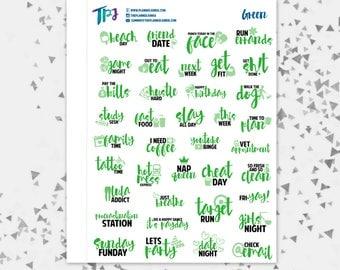 Green Typography Sampler [260]