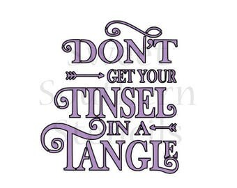 Don't get your Tinsel in a Tangle Christmas Cookie Stencil