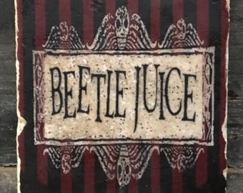 Beetlejuice Logo Coaster or Decor Accent
